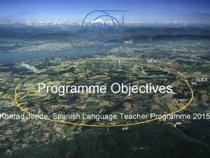 Programme Objectives Konrad Jende Spanish Language Teacher Programme
