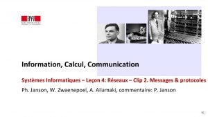 Information Calcul Communication Systmes Informatiques Leon 4 Rseaux