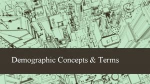 Demographic Concepts Terms https www youtube comwatch vQs