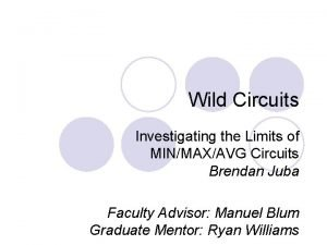 Wild Circuits Investigating the Limits of MINMAXAVG Circuits