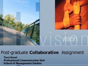 Postgraduate Collaborative Assignment Terri Grant Professional Communication Unit
