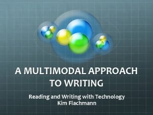 A MULTIMODAL APPROACH TO WRITING Reading and Writing