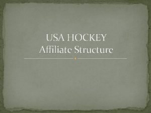 USA HOCKEY Affiliate Structure Michigan Amateur Hockey Association