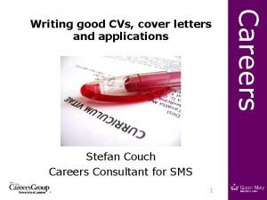 Stefan Couch Careers Consultant for SMS 1 Careers