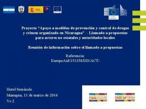 Proyecto Apoyo a medidas de prevencin y control