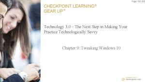 Page 183 205 CHECKPOINT LEARNING GEAR UP Technology