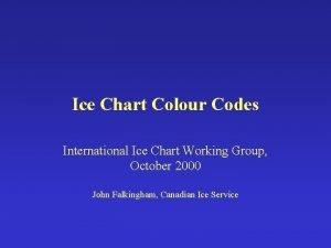 Ice Chart Colour Codes International Ice Chart Working