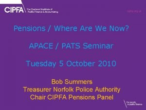 cipfa org uk Pensions Where Are We Now