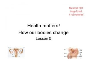 Health matters How our bodies change Lesson 5
