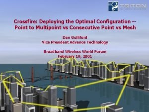 Crossfire Deploying the Optimal Configuration Point to Multipoint
