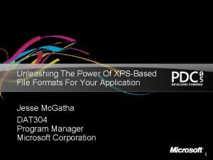 Unleashing The Power Of XPSBased File Formats For