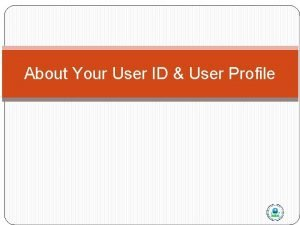 About Your User ID User Profile AQS Architecture