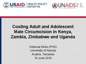 Costing Adult and Adolescent Male Circumcision in Kenya