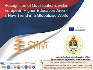 Recognition of Qualifications within European Higher Education Area