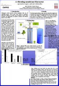 A vibrating membrane bioreactor operated at supra and
