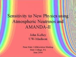 Sensitivity to New Physics using Atmospheric Neutrinos and