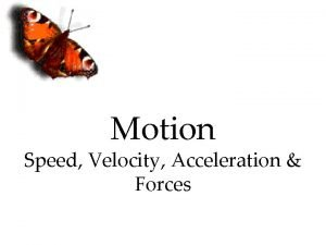 Motion Speed Velocity Acceleration Forces Frame of Reference