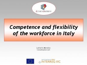 Competence and flexibility of the workforce in Italy