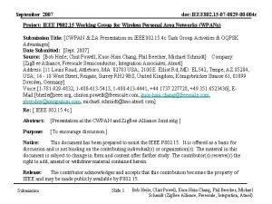 September 2007 doc IEEE 802 15 07 0829