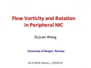 Flow Vorticity and Rotation in Peripheral HIC Dujuan