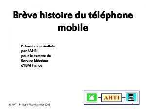 Brve histoire du tlphone mobile Prsentation ralise par