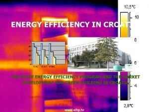 ENERGY EFFICIENCY IN CROATIA THE STATE ENERGY EFFICIENCY