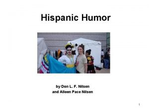 Hispanic Humor by Don L F Nilsen and