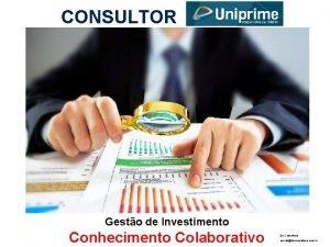 CONSULTOR Gesto de Investimento Conhecimento Colaborativo 3 is