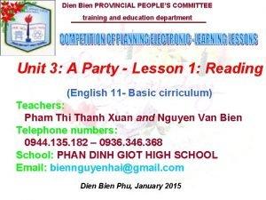 Dien Bien PROVINCIAL PEOPLES COMMITTEE training and education