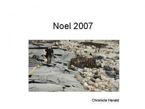 Noel 2007 Chronicle Herald Noel Storm History 28
