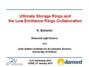 Ultimate Storage Rings and the Low Emittance Rings