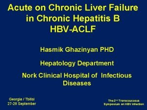 Acute on Chronic Liver Failure in Chronic Hepatitis