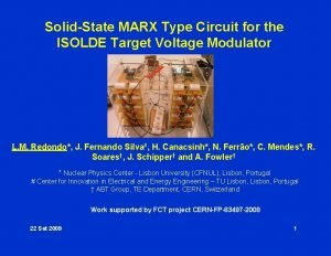 SolidState MARX Type Circuit for the ISOLDE Target