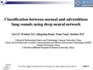 Classification between normal and adventitious lung sounds using