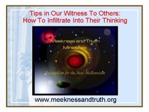 Tips in Our Witness To Others How To