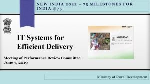 NEW INDIA 2022 75 MILESTONES FOR INDIA 75