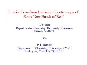 Fourier Transform Emission Spectroscopy of Some New Bands