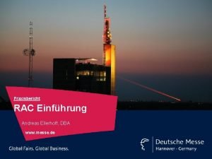 Praxisbericht RAC Einfhrung Andreas Ellerhoff DBA www messe