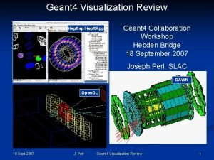 Geant 4 Visualization Review Hep RepHep RApp Geant
