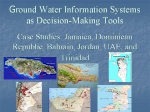 Ground Water Information Systems as DecisionMaking Tools Case