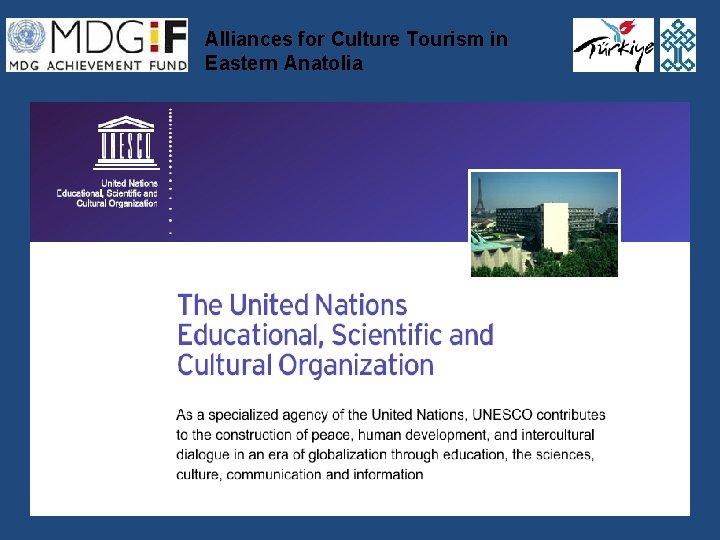Alliances for Culture Tourism in Eastern Anatolia Alliances