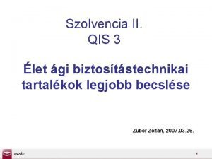 Szolvencia II QIS 3 let gi biztoststechnikai tartalkok