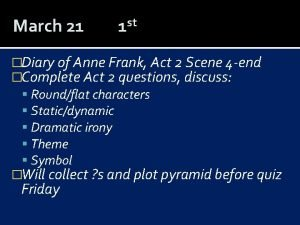 March 21 st 1 Diary of Anne Frank