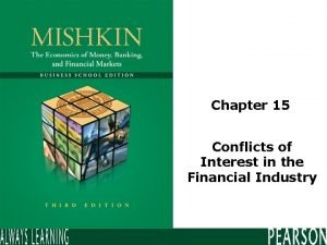 Chapter 15 Conflicts of Interest in the Financial
