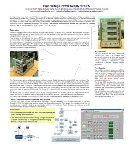 High Voltage Power Supply for RPC Suvendu Nath
