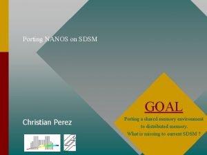 Porting NANOS on SDSM GOAL Christian Perez Porting