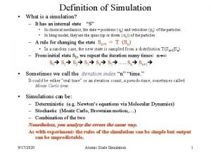 Definition of Simulation What is a simulation It