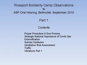 Rossport Solidarity Camp Observations to ABP Oral Hearing