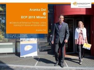 Aranka Dol ECP 2015 Milano eDialectical Behaviour Therapy