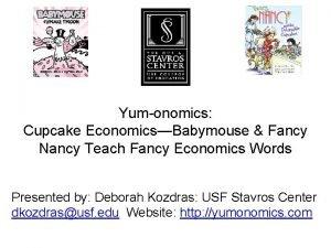 Yumonomics Cupcake EconomicsBabymouse Fancy Nancy Teach Fancy Economics